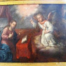Arte: CUADRO O/L DE LA ANUNCIACIÓN, SIGLO XVII, DE RIZI ??. Lote 135779086