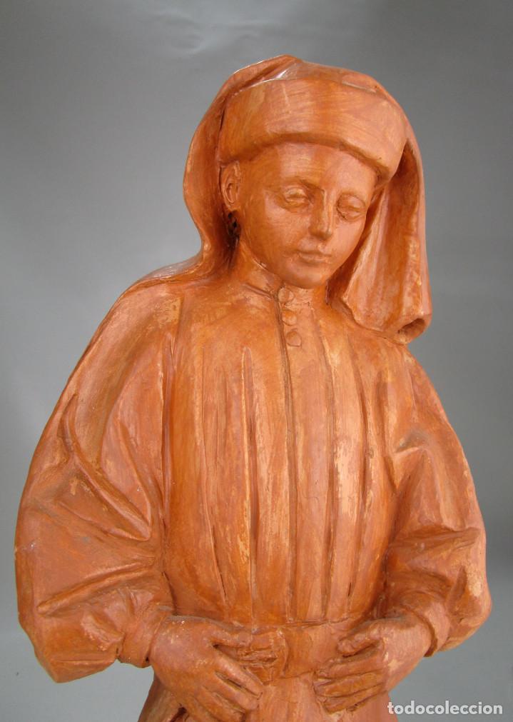 FANTASTICA GRAN FIGURA EN TERRACOTA COSTALERO O SIMILAR RELIGIOSO (Arte - Arte Religioso - Escultura)
