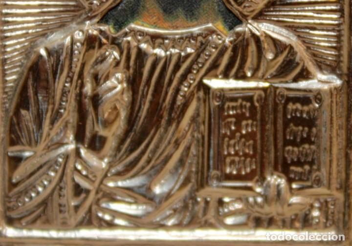 Arte: ICONO EN PLATA-JESUCRISTO-CON PUNZONES. - Foto 2 - 135895446