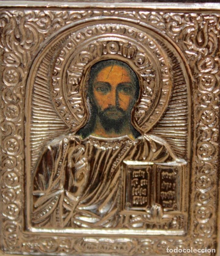 Arte: ICONO EN PLATA-JESUCRISTO-CON PUNZONES. - Foto 3 - 135895446