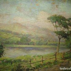 Arte: OLEO EN TABLA ANTIGUA PINTURA IMPRESIONISTA ESCUELA VALENCIANA OVEJAS PASTANDO EN CAMPIÑA. Lote 135898550