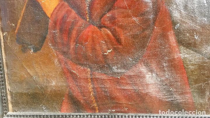 Arte: CRISTO CON LA CRUZ OLEO MUY ANTIGUO - Foto 11 - 136138770