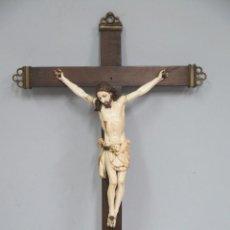 Arte: MAGNIFICO CRISTO HISPANOFILIPINO DE MARFIL. SIGLO XVII-XVIII. GRAN TRATAMIENTO ANATOMIA. Lote 136169366