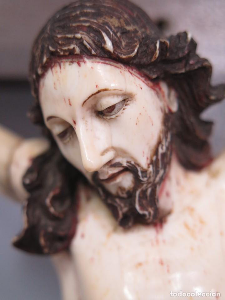 Arte: MAGNIFICO CRISTO HISPANOFILIPINO DE MARFIL. SIGLO XVII-XVIII. GRAN TRATAMIENTO ANATOMIA - Foto 4 - 136169366