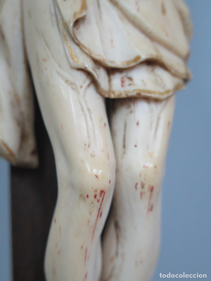 Arte: MAGNIFICO CRISTO HISPANOFILIPINO DE MARFIL. SIGLO XVII-XVIII. GRAN TRATAMIENTO ANATOMIA - Foto 8 - 136169366