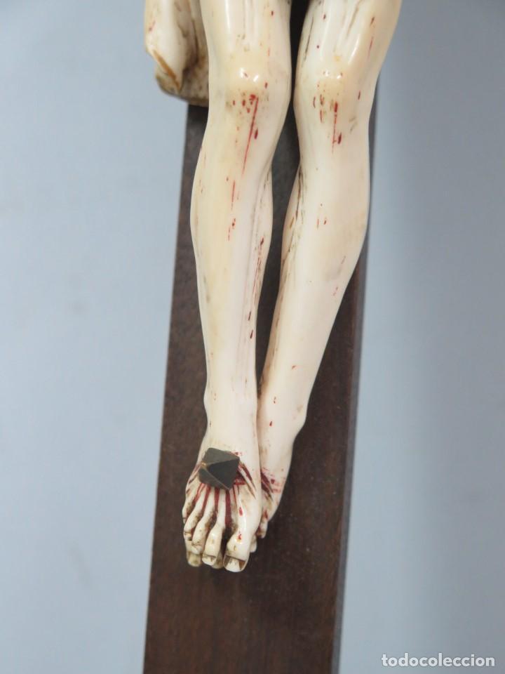 Arte: MAGNIFICO CRISTO HISPANOFILIPINO DE MARFIL. SIGLO XVII-XVIII. GRAN TRATAMIENTO ANATOMIA - Foto 13 - 136169366