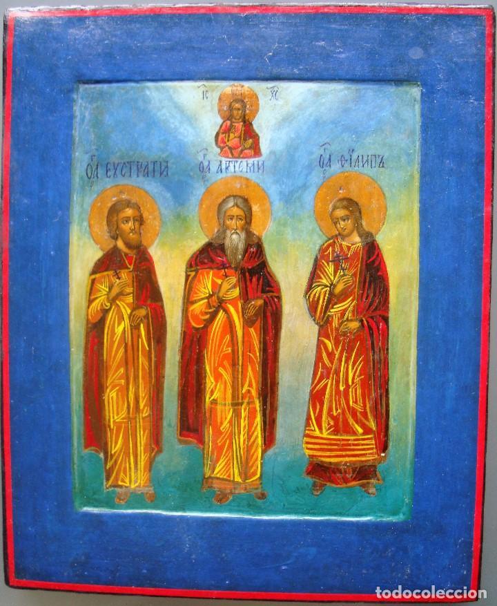 TRES SANTOS (Arte - Arte Religioso - Iconos)