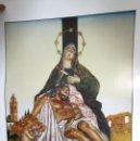 Arte: IMAGEN VIRGEN CON MARIA CONFRARIA SERFS AL PEU DE LA CREU 1948 1998 FIRMA ORIGINAL JOAN AROCAS. Lote 136352042