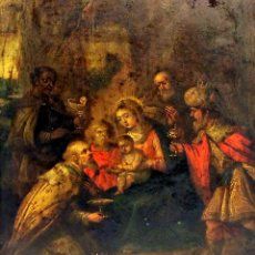 Arte: EPIFANÍA. ÓLEO SOBRE COBRE. ESCUELA ITALIANA. ITALIA. SIGLOS XVII-XVIII. Lote 136357358