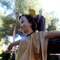 Arte: NIÑO JESUS - SAN JUANITO EN LA CRUZ - ARTE CRISTIANO DE OLOT. CIRCA 1910. GRAN TAMAÑO.. Lote 136367817