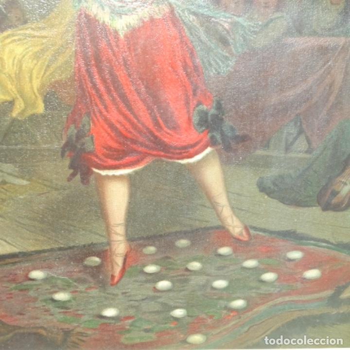 Arte: Grabado antiguo en marco dorado epoca. - Foto 4 - 136369682