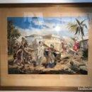 Arte: PRECIOSO CUADRO BORDADO SOBRE SEDA CON MOTIVO RELIGIOSO.. Lote 136441974