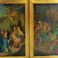 Arte: LA EPIFANIA. EL PRENDIMIENTO DE JESÚS. ÓLEO SOBRE LIENZO. ESPAÑA. XVIII. Lote 136456578