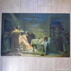 Arte: GRAN LITOGRAFÍA MUERTE PAPA FABIANO, ESPASA Y COMPAÑIA BARCELONA, 66 X 42 CM. Lote 136503810