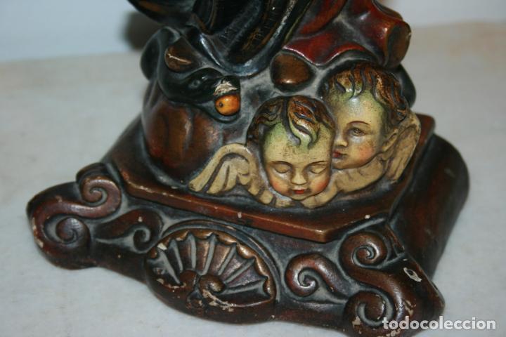 Arte: Preciosa imagen de la Inmaculada Concepción policromada. escayola o pasta. Mide 46 x 17 cms - Foto 2 - 136546758