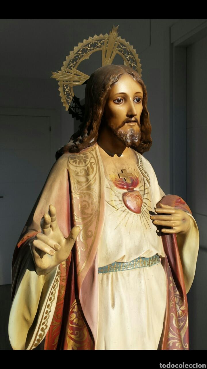 SAGRADO CORAZÓN OLOT. FIGURA OLOT. ESTUCO (Arte - Arte Religioso - Escultura)