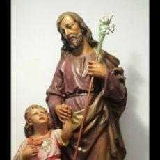 Arte: SAN JOSÉ OLOT. NIÑO JESÚS OLOT. FIGURA OLOT. PASTA DE MADERA.. Lote 136765608