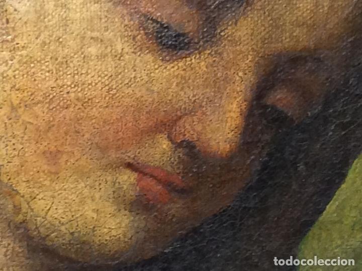 Arte: MADONNA CON NIÑO. ÓLEO SOBRE LIENZO. ANÓNIMO. ITALIA(?). SIGLOS XVII-XVIII - Foto 7 - 136830738