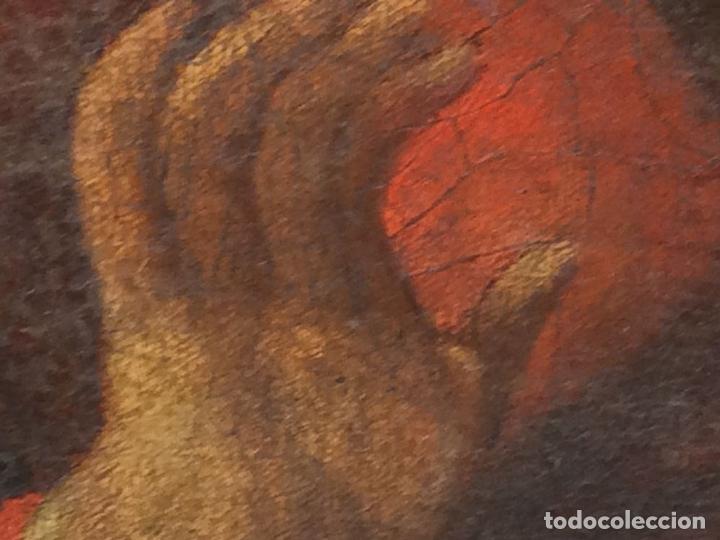 Arte: MADONNA CON NIÑO. ÓLEO SOBRE LIENZO. ANÓNIMO. ITALIA(?). SIGLOS XVII-XVIII - Foto 10 - 136830738
