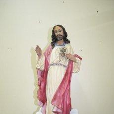 Arte: FIGURA RELIGIOSA ANTIGUA SAGRADO CORAZÓN DE JESÚS. Lote 287465383