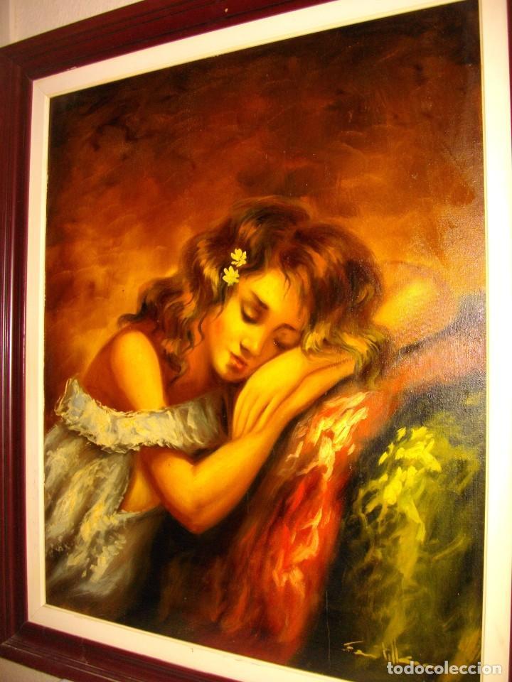 EXCELENTE SEGUNDO MATILLA 1862- 1937 OLEO SOBRE LIENZO FIRMADO (Arte - Arte Religioso - Pintura Religiosa - Oleo)