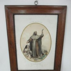 Arte: ANTIGUO GRABADO - SAN RAMÓN NONATO - EUGENE JOUY EDITOR - IMP IMERCIER, PARÍS - S. XIX. Lote 137264546