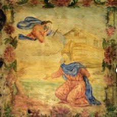 Arte: NOÉ RECIBIENDO EL ENCARGO DE DIOS. ÓLEO SOBRE TABLA. ESPAÑA. SIGLO XVIII. Lote 137297086