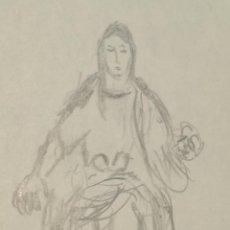 Arte: VIRGEN DOLOROSA PINTOR OCAÑA VIRGEN DOLOROSA SEDENTE RURAL FIRMADO. Lote 137318658