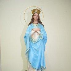 Arte: FIGURA RELIGIOSA VIRGEN INMACULADA OJOS DE CRISTAL. Lote 137387746