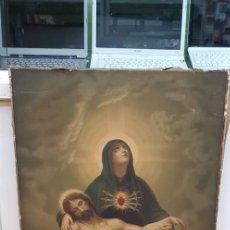Arte: ANTIGUA OLEOGRAFIA SOBRE LIENZO GIMENO REGNIER 1894 (ROLDOS COMPAÑÍA BARCELONA). Lote 137455514