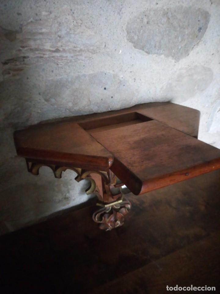 Arte: Antiguo Sagrado Corazón Entronizado en estuco policromado. - Foto 6 - 137504278
