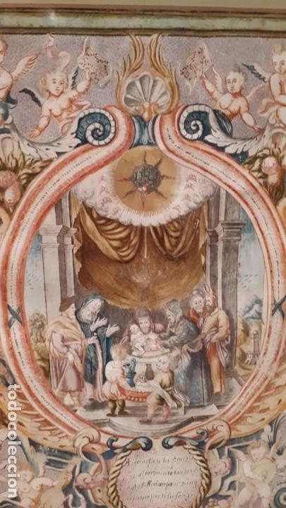 ANTIGUO PERGAMINO MINIADO (Arte - Arte Religioso - Pintura Religiosa - Otros)