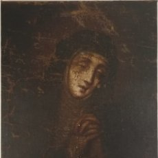 Arte: VIRGEN DOLOROSA - ESCUELA SEVILLANA - SIGLO XVII - NECESITA RESTAURACIÓN. Lote 52964160