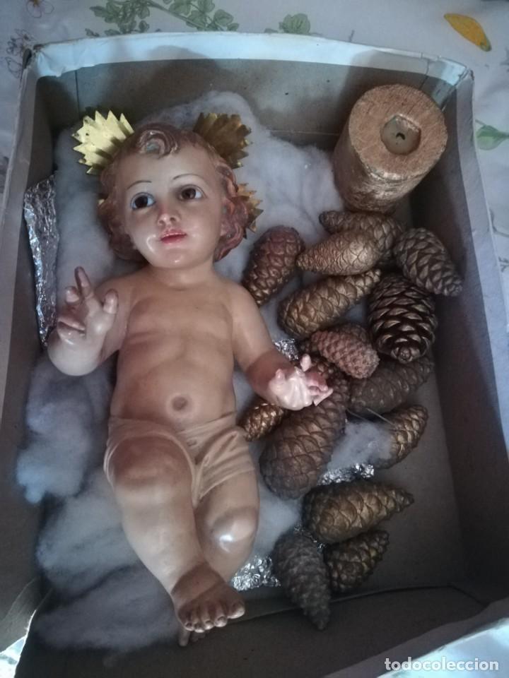 NIÑO JESÚS DE CUNA (Arte - Arte Religioso - Escultura)