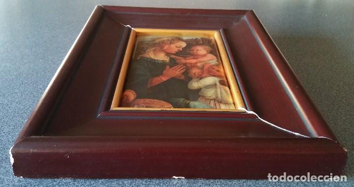 Arte: Fra Filippo Lippi Virgen con niño en seda acolchada - Foto 3 - 137819838