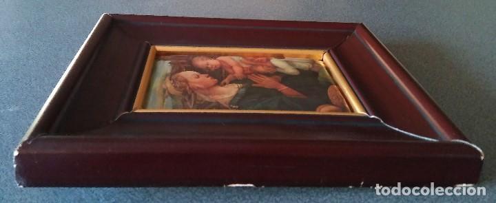 Arte: Fra Filippo Lippi Virgen con niño en seda acolchada - Foto 6 - 137819838