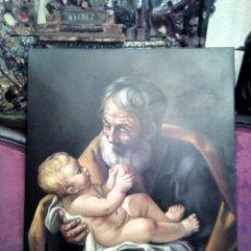Arte: SAN JOSÉ CON EL NIÑO JESÚS. JOLOGA. LIENZO 81X65. ELIGE MARCO A TU GUSTO.. Lote 137868570