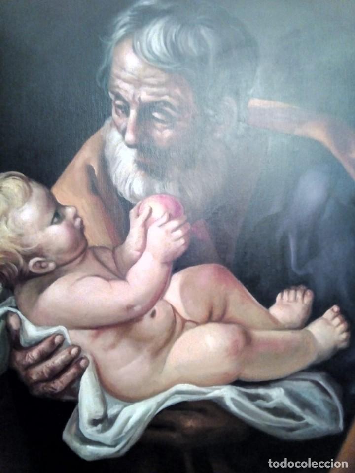 Arte: SAN JOSÉ CON EL NIÑO JESÚS. JOLOGA. LIENZO 81X65. ELIGE MARCO A TU GUSTO. - Foto 8 - 137868570