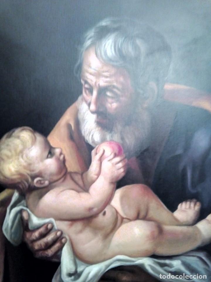 Arte: SAN JOSÉ CON EL NIÑO JESÚS. JOLOGA. LIENZO 81X65. ELIGE MARCO A TU GUSTO. - Foto 10 - 137868570
