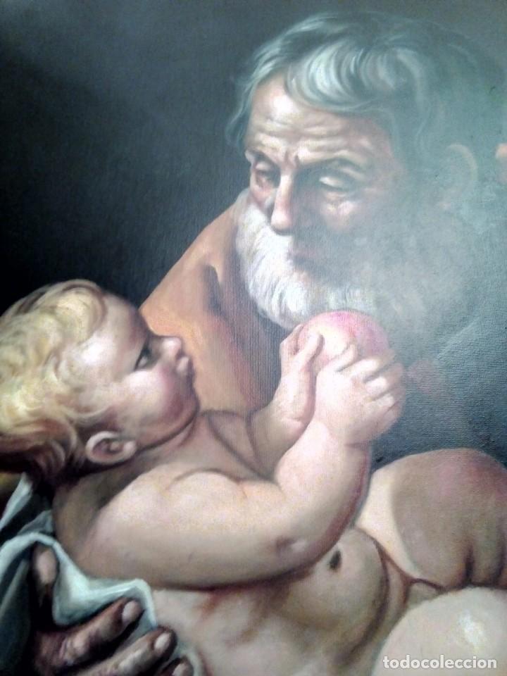 Arte: SAN JOSÉ CON EL NIÑO JESÚS. JOLOGA. LIENZO 81X65. ELIGE MARCO A TU GUSTO. - Foto 12 - 137868570