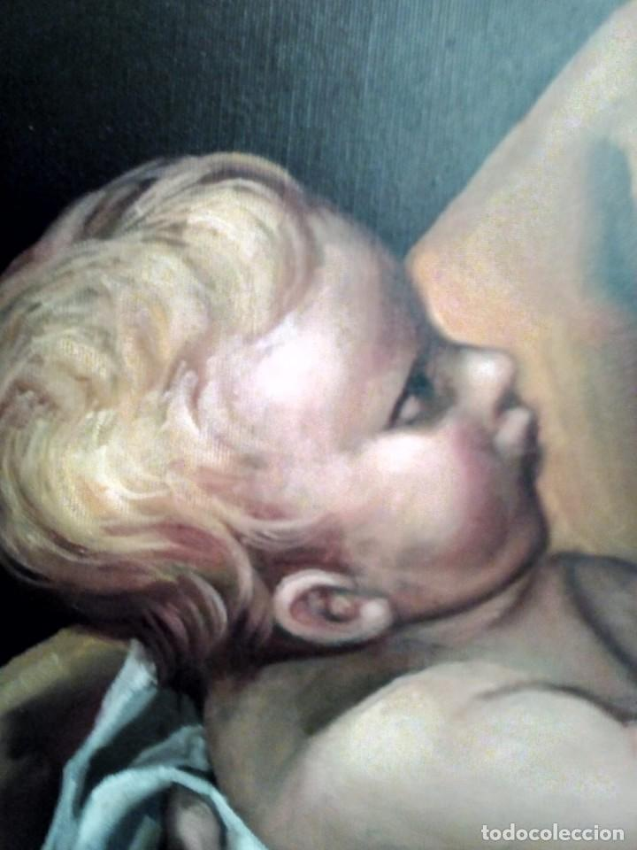 Arte: SAN JOSÉ CON EL NIÑO JESÚS. JOLOGA. LIENZO 81X65. ELIGE MARCO A TU GUSTO. - Foto 13 - 137868570