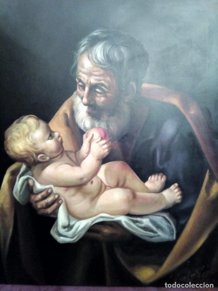 Arte: SAN JOSÉ CON EL NIÑO JESÚS. JOLOGA. LIENZO 81X65. ELIGE MARCO A TU GUSTO. - Foto 15 - 137868570