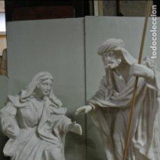 Arte: ENORMES FIGURAS PARA BELEN O PESEBRE. SAN JOSÉ Y LA VIRGEN MARIA. 68CM. Lote 137886790