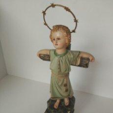 Arte: IMAGEN DE NIÑO JESÚS EN PASTA DE MADERA. Lote 137893306