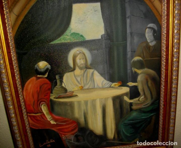 Arte: OLEO SOBRE LIENZO FIRMADO CUBELLES ( 57 X 46 CTMS CON MARCO INCLUIDO - Foto 4 - 137893442
