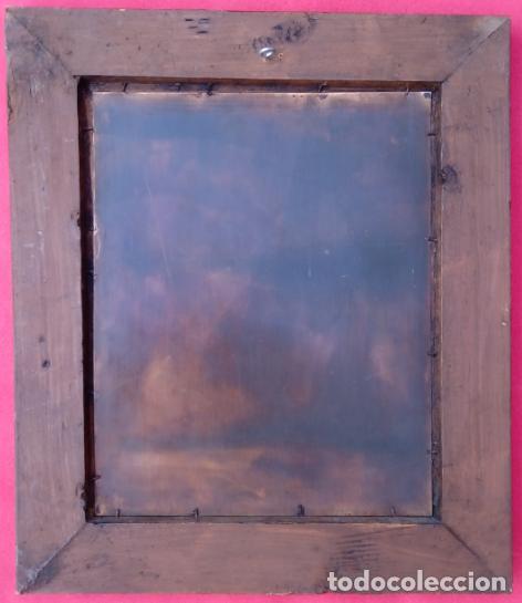Arte: ÓLEO S/COBRE -SAN ANTONIO- S. XIX, MUY BIEN ENMARCADO. DIM.- 34X29 CMS. - Foto 6 - 137939146