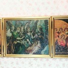Arte: ANTIGUO TRIPTICO RELIGIOSO MEDIADOS DEL SIGLO XX. Lote 138083664