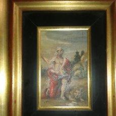 Arte: ANTIGUA PINTURA AL OLEO SOBRE TABLA. Lote 138285784