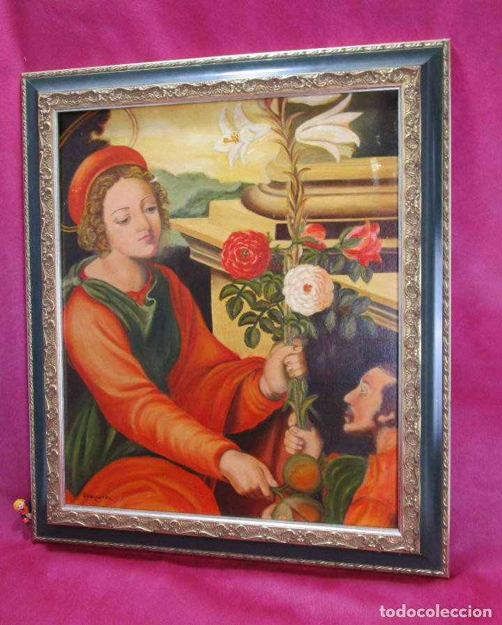 Arte: PRECIOSA ESCENA RELIGIOSA IMAGEN SANTA DOROTEA Y SAN TEOFILO S. XX ELENA ALAGARDA - Foto 2 - 138664194