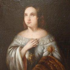 Arte: SANTA CATALINA DE ALEJANDRÍA. ÓLEO SOBRE LIENZO CON MEDIDAS DE 102 X 82 CM. SIGLOS XVIII-XIX.. Lote 138722398